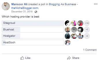 2019 WordPress Hosting Poll