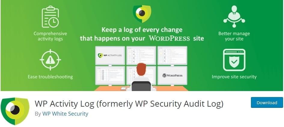 best wordpress security plugins - wp security audit log