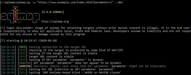 wordpress penetration testing sqlmap