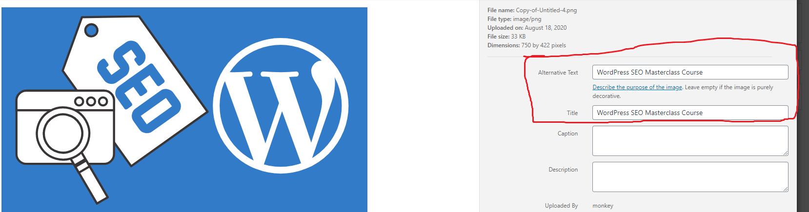 image file name and ALT tag